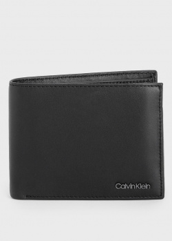 Черное портмоне Calvin Klein с логотипом, фото
