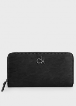 Черный кошелек Calvin Klein с логотипом, фото