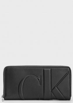 Черный кошелек Calvin Klein из экокожи, фото