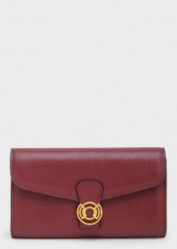 Бордовый кошелек Coccinelle из зернистой кожи, фото