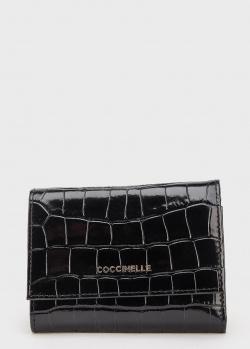 Черное портмоне Coccinelle из фактурной кожи, фото