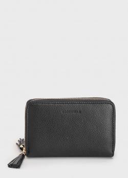 Черное портмоне Coccinelle с декором-кисточкой, фото
