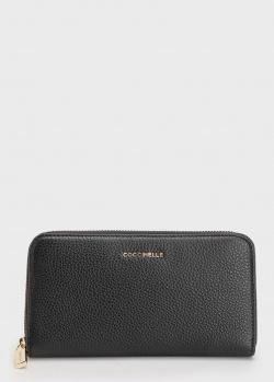 Черный кошелек Coccinelle из зернистой кожи, фото