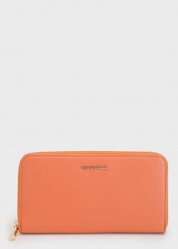 Кошелек с логотипом Coccinelle оранжевого цвета, фото