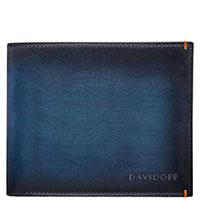 Синее портмоне Davidoff Venice с логотипом, фото