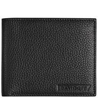Черное портмоне Davidoff Traces из зернистой кожи, фото