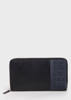 Кожаный кошелек Bikkembergs темно-синего цвета, фото