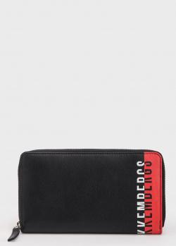 Черный кошелек Bikkembergs с брендовым принтом, фото