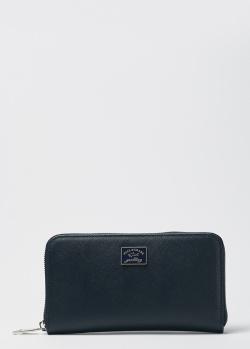 Мужской кошелек на молнии Paul&Shark темно-синего цвета, фото