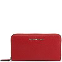 Красный кошелек Emporio Armani с монетницей, фото
