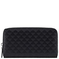 Черный кошелек Emporio Armani с брендовым тиснением, фото