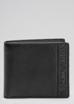 Портмоне Emporio Armani черного цвета с логотипом, фото
