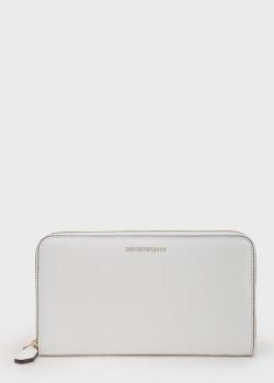 Белый кошелек Emporio Armani на молнии, фото