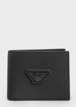 Портмоне черного цвета Emporio Armani с логотипом, фото