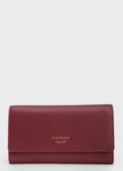 Бордовый кошелек Emporio Armani из экокожи, фото