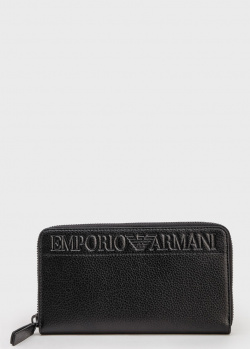 Прямоугольный кошелек Emporio Armani черного цвета, фото