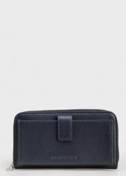 Мужской кошелек Emporio Armani из синей кожи, фото