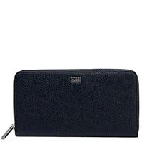 Синий кошелек Hugo Boss из фактурной кожи, фото