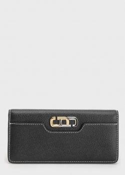 Черный кошелек Marc Jacobs с контрастной строчкой, фото