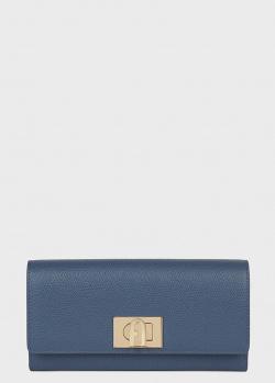 Синий кошелек Furla 1927 на поворотном замке, фото