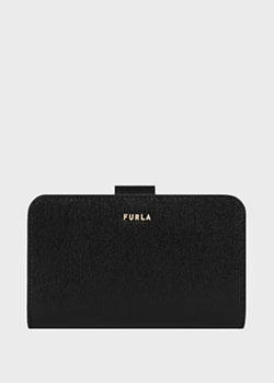 Черный кошелек Furla Babylon Saffiano на застежке-кнопке, фото