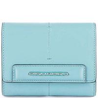 Портмоне Piquadro Splash с отделением голубого цвета , фото