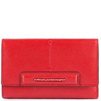 Портмоне Piquadro Splash с отделением для 18 кредитных карт красного цвета, фото