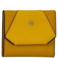 Женское портмоне Piquadro Muse желтого цвета, фото