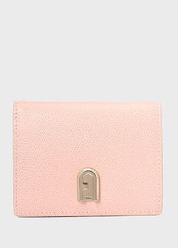 Розовый кошелек Furla 1927 Ares с монетница с застежкой-кнопкой, фото