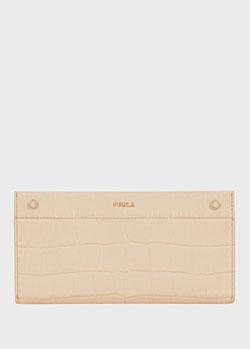 Розовый кошелек Furla Lady M из фактурной кожи, фото