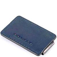Портмоне Piquadro Bold с RFID защитой синего цвета, фото