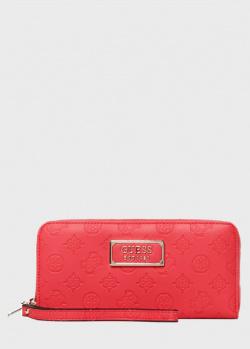 Красный кошелек Guess Logo Love с тиснением, фото