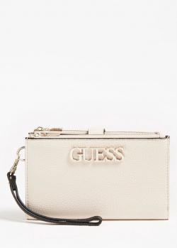 Белый кошелек Guess Uptown Chic с логотипом, фото