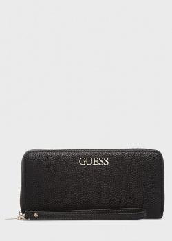 Черный кошелек Guess Alby из экокожи, фото