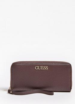 Женский кошелек Guess Alby бордового цвета, фото