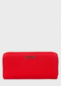 Женский кошелек Guess Alby красного цвета, фото