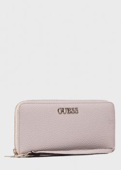 Розовой кошелек Guess Alby с логотипом, фото