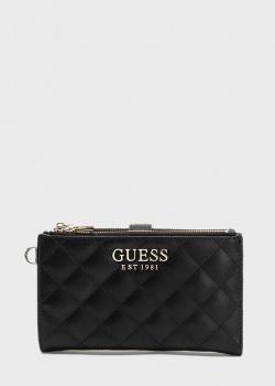Стеганый кошелек Guess Melise с ремешком, фото