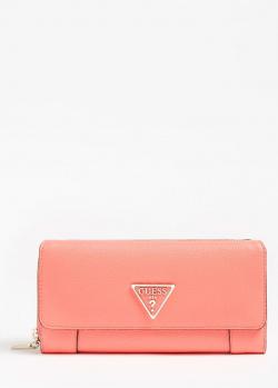 Женский кошелек Guess Alby кораллового цвета, фото