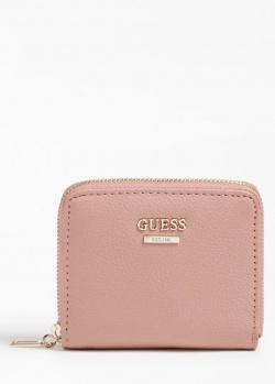 Розовой кошелек Guess Naya с 4 слотами для карт, фото