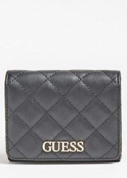Черный кошелек Guess Illy с 4 слотами для карт, фото