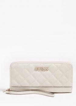 Стеганый кошелек Guess Illy белого цвета, фото