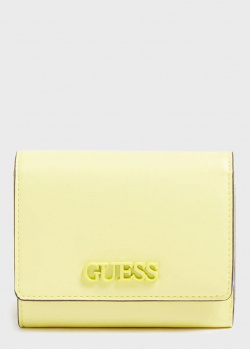 Женский кошелек Guess Central City цвета лайма, фото