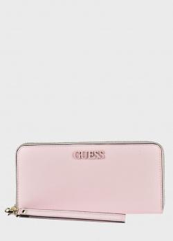 Розовой кошелек Guess Central City из экокожи, фото