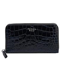 Женский лакированный кошелек Tosca Blu черного цвета, фото