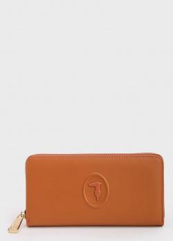 Коричневый кошелек Trussardi прямоугольной формы, фото
