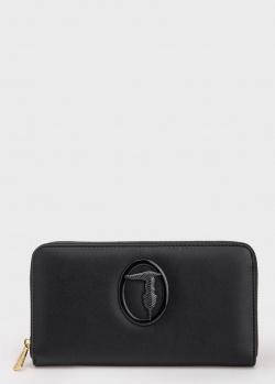 Черный кошелек Trussardi Lisbon с логотипом, фото