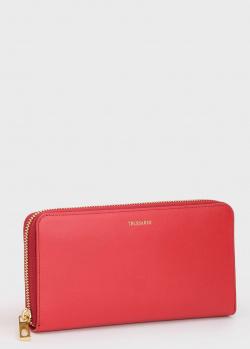 Красный кошелек Trussardi из гладкой кожи, фото