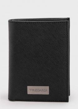 Черное портмоне Trussardi с логотипом, фото