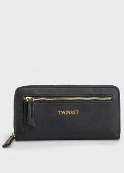 Черный кошелек Twin-Set с логотипом, фото